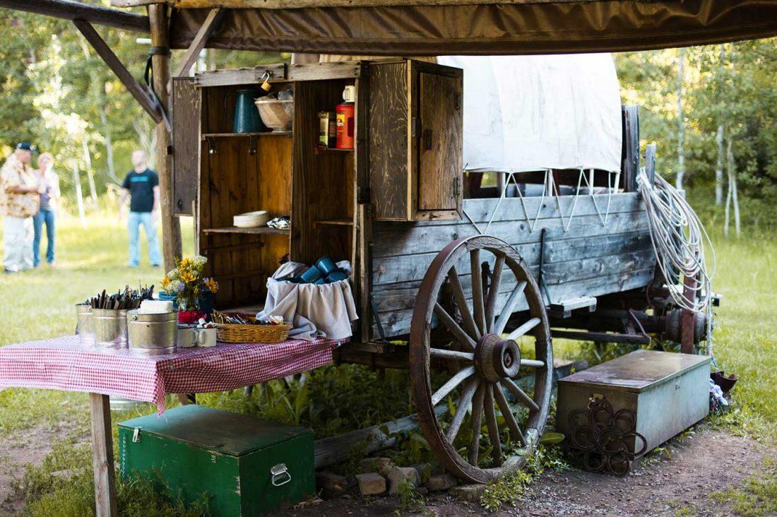 cowboy dinner wagon
