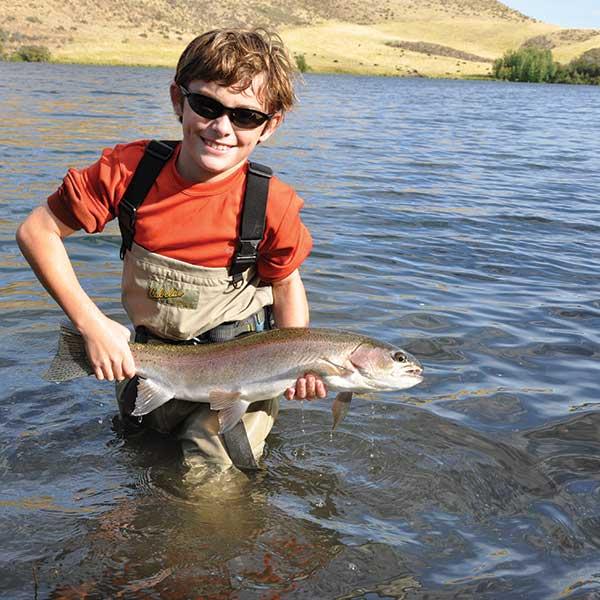 Kid with big fish