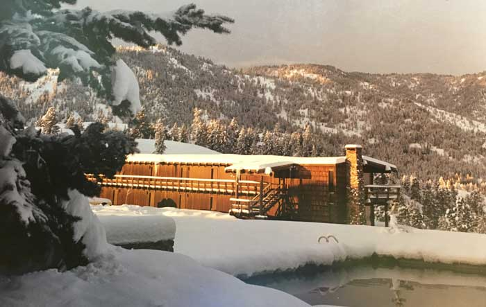 Lodge Historical Photo Winter