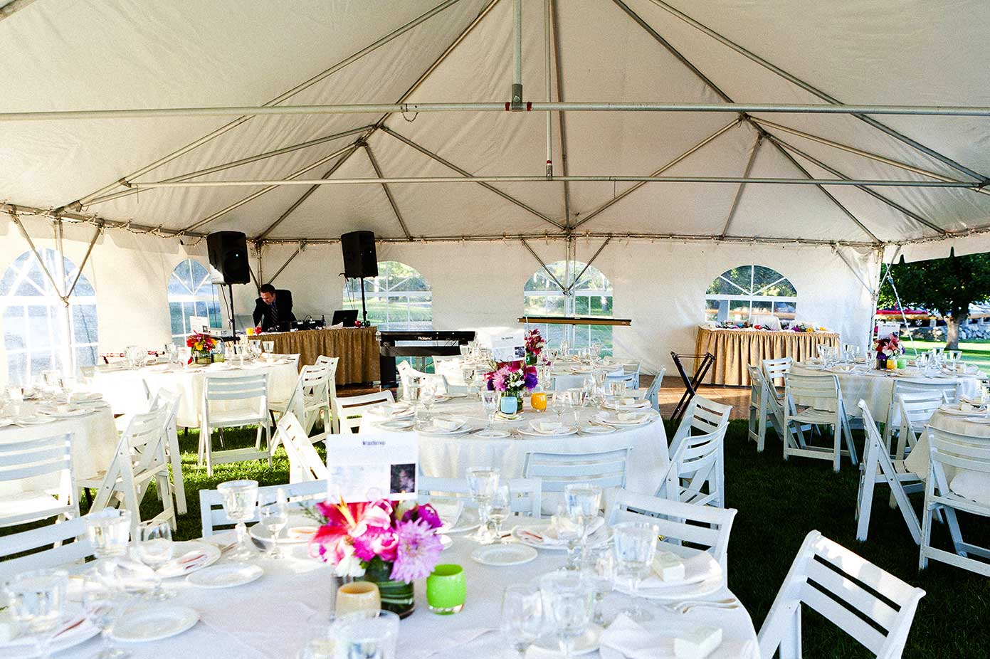 outdoor tent banquet style