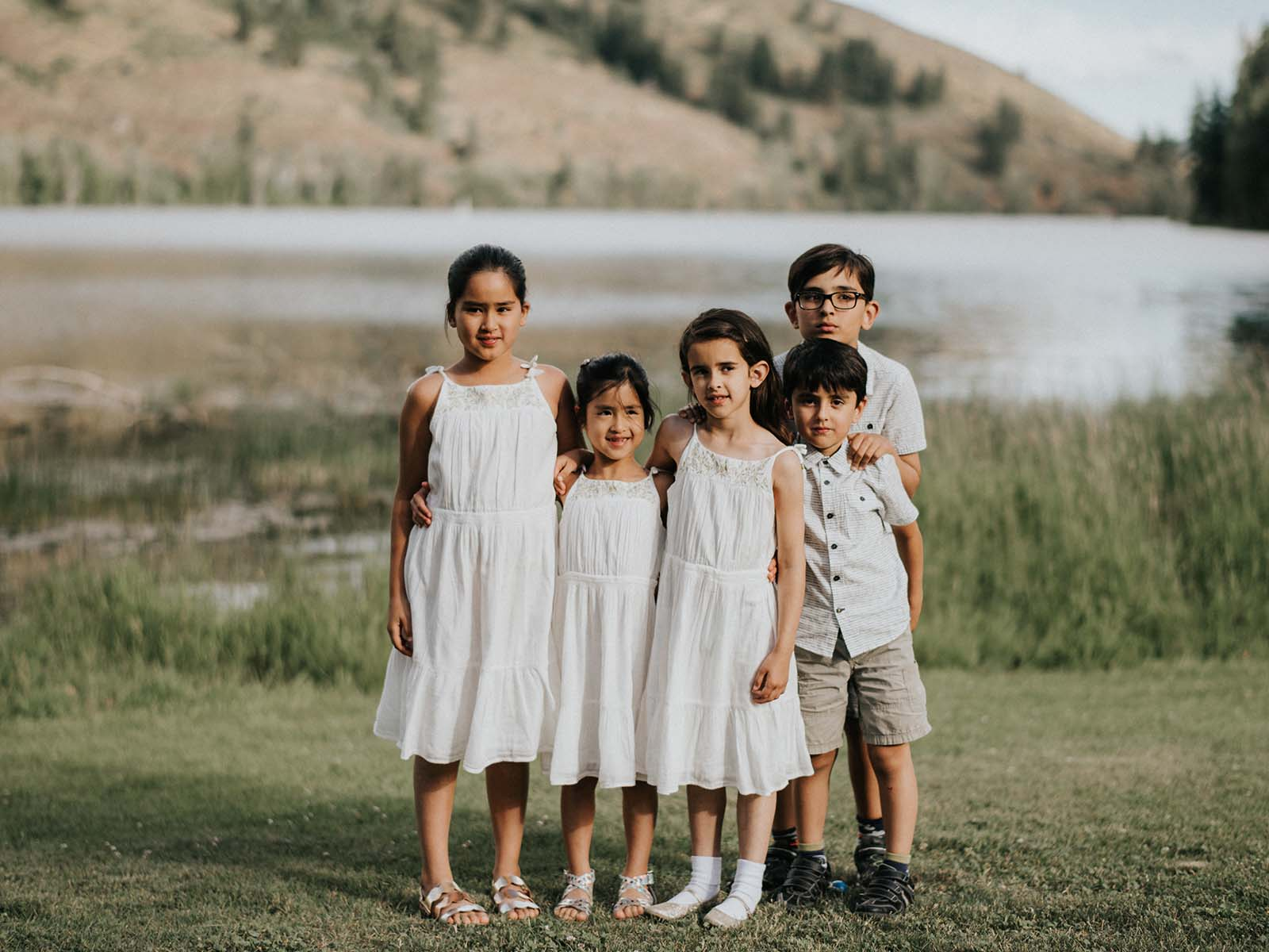 kids at the lake wedding