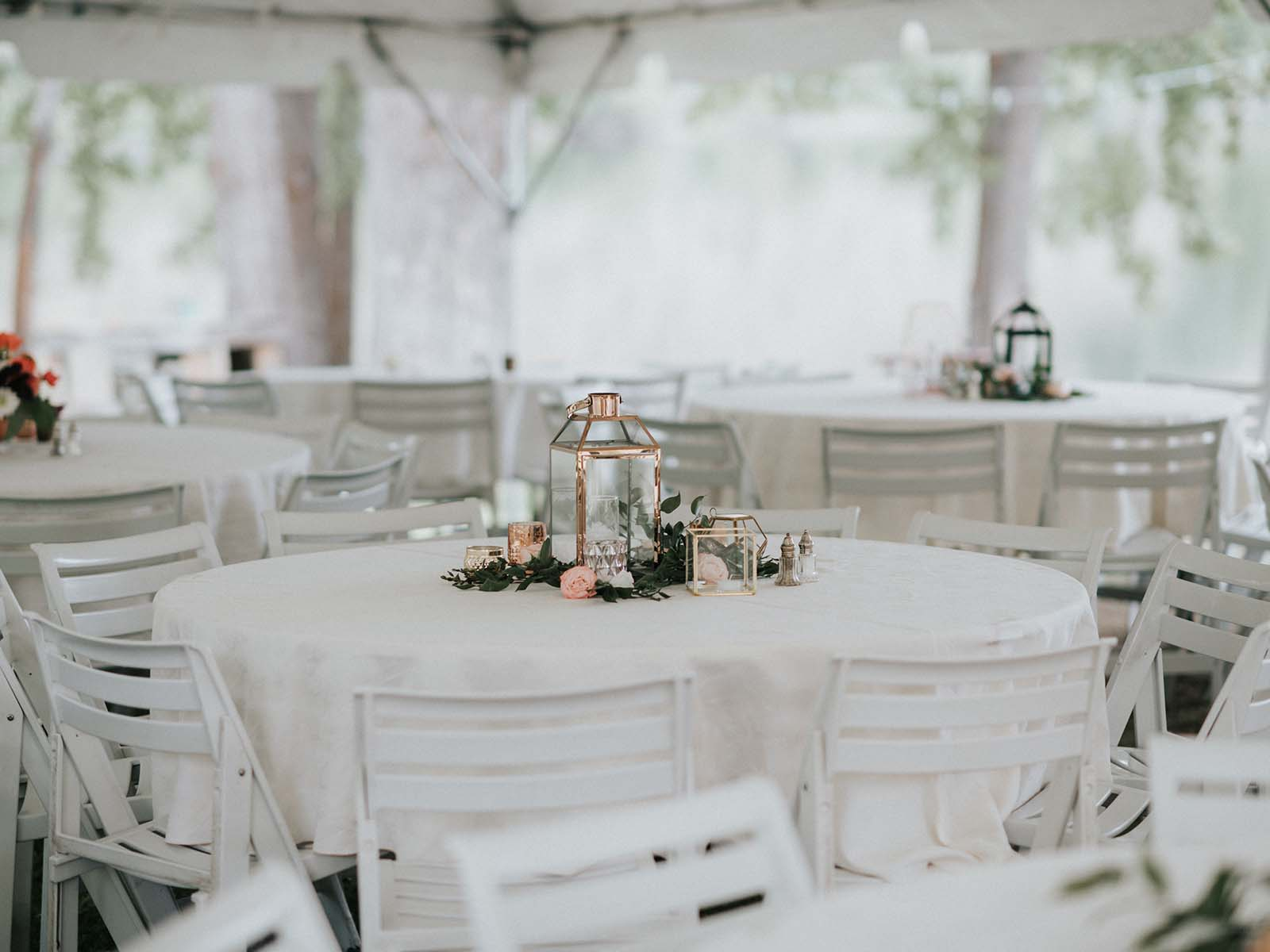 Wedding tent banquet style