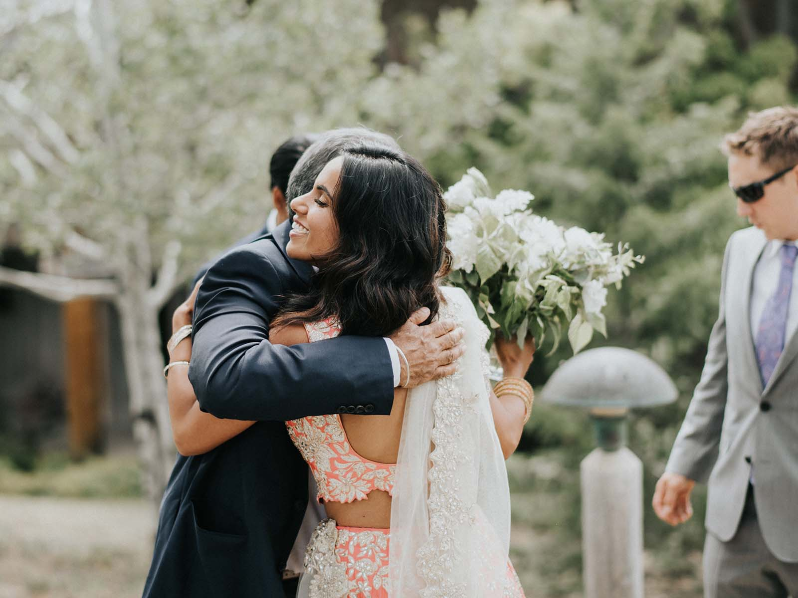Kirin and Josh wedding embrace