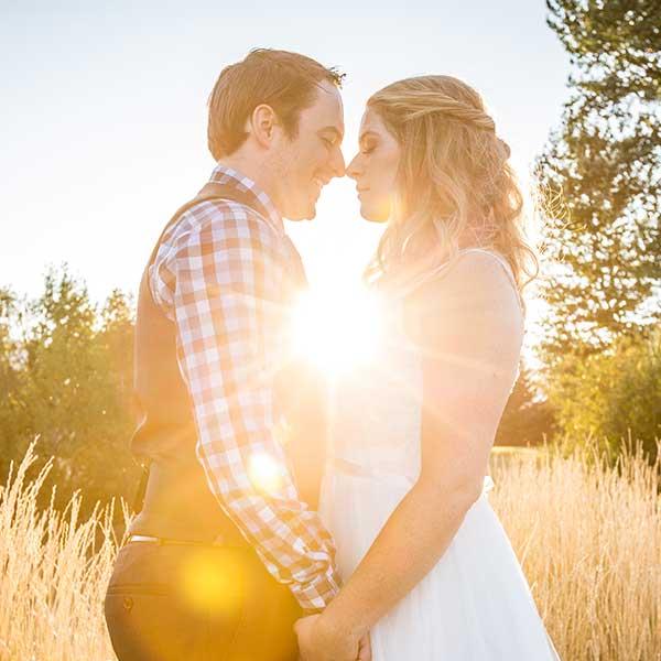 Katherine and Trevor sunburst image