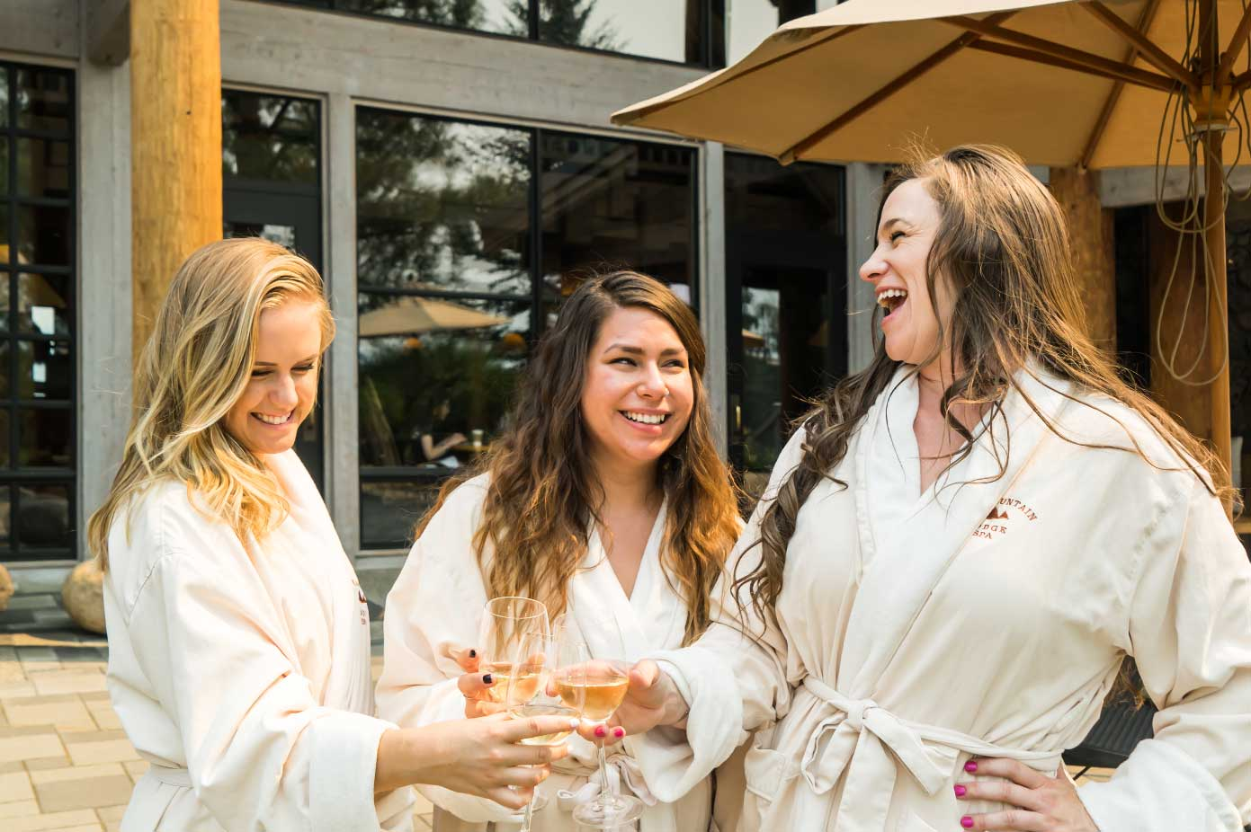 spa girls wine party