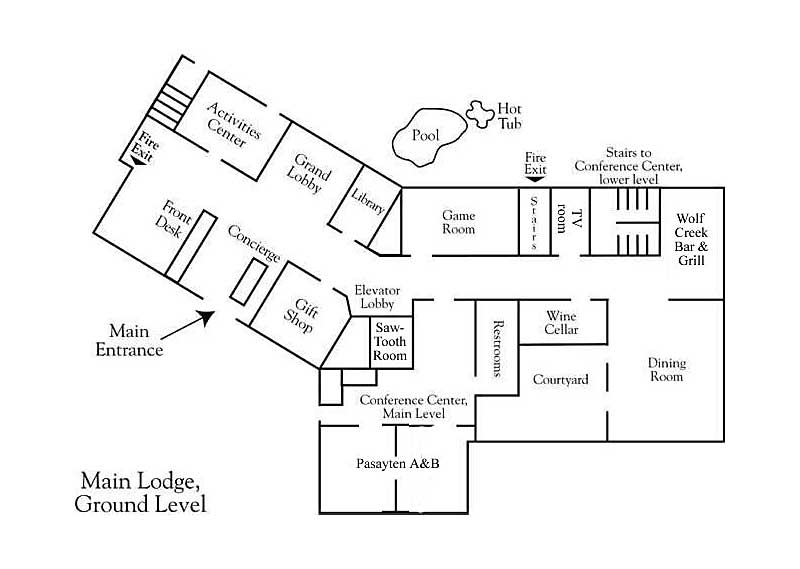 Main Lodge Ground Level Layout