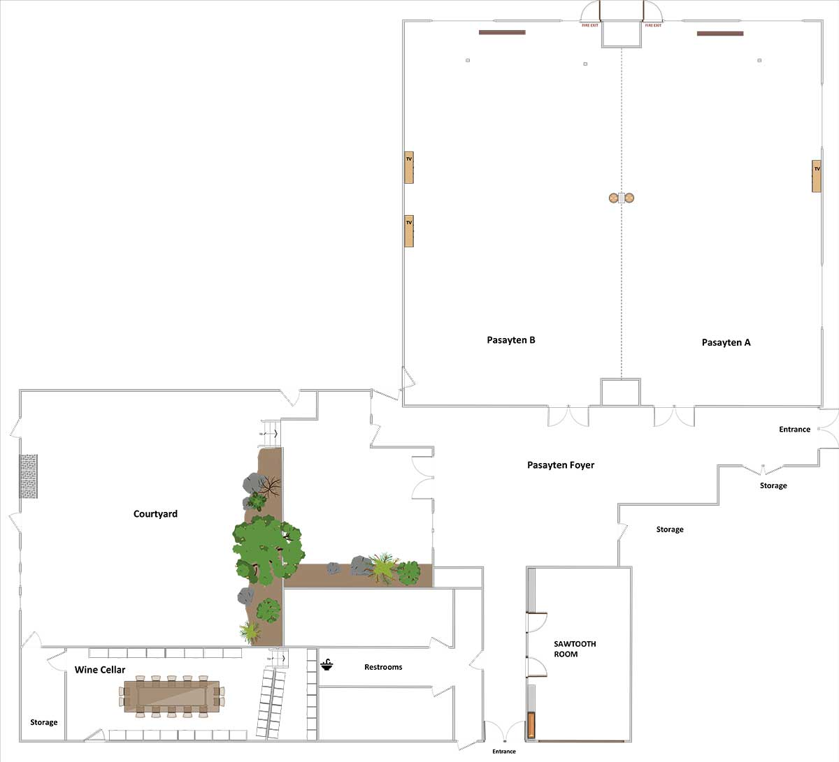 main lodge conference area diagram