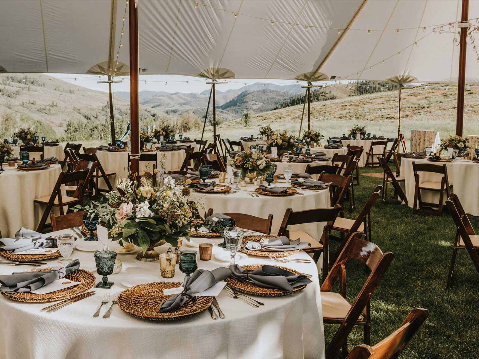 molly neil reception tables in tent