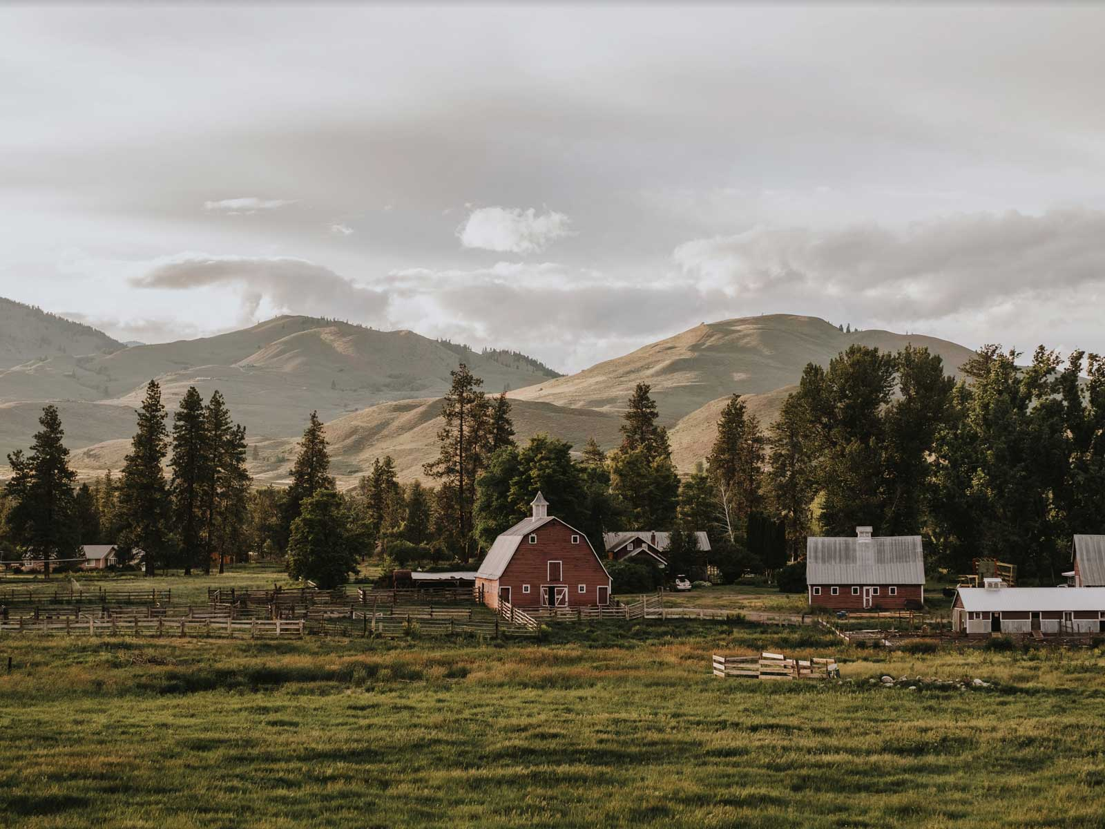 sunny m ranch at sunset