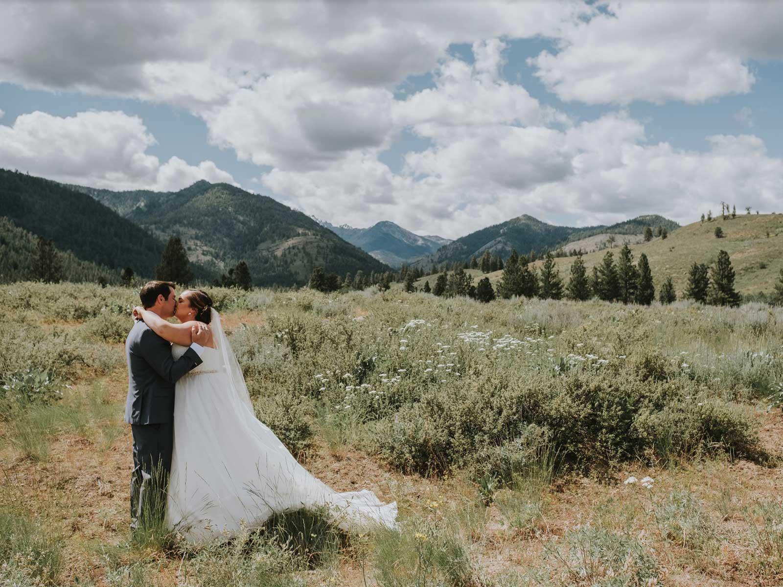molly neil wedding kiss