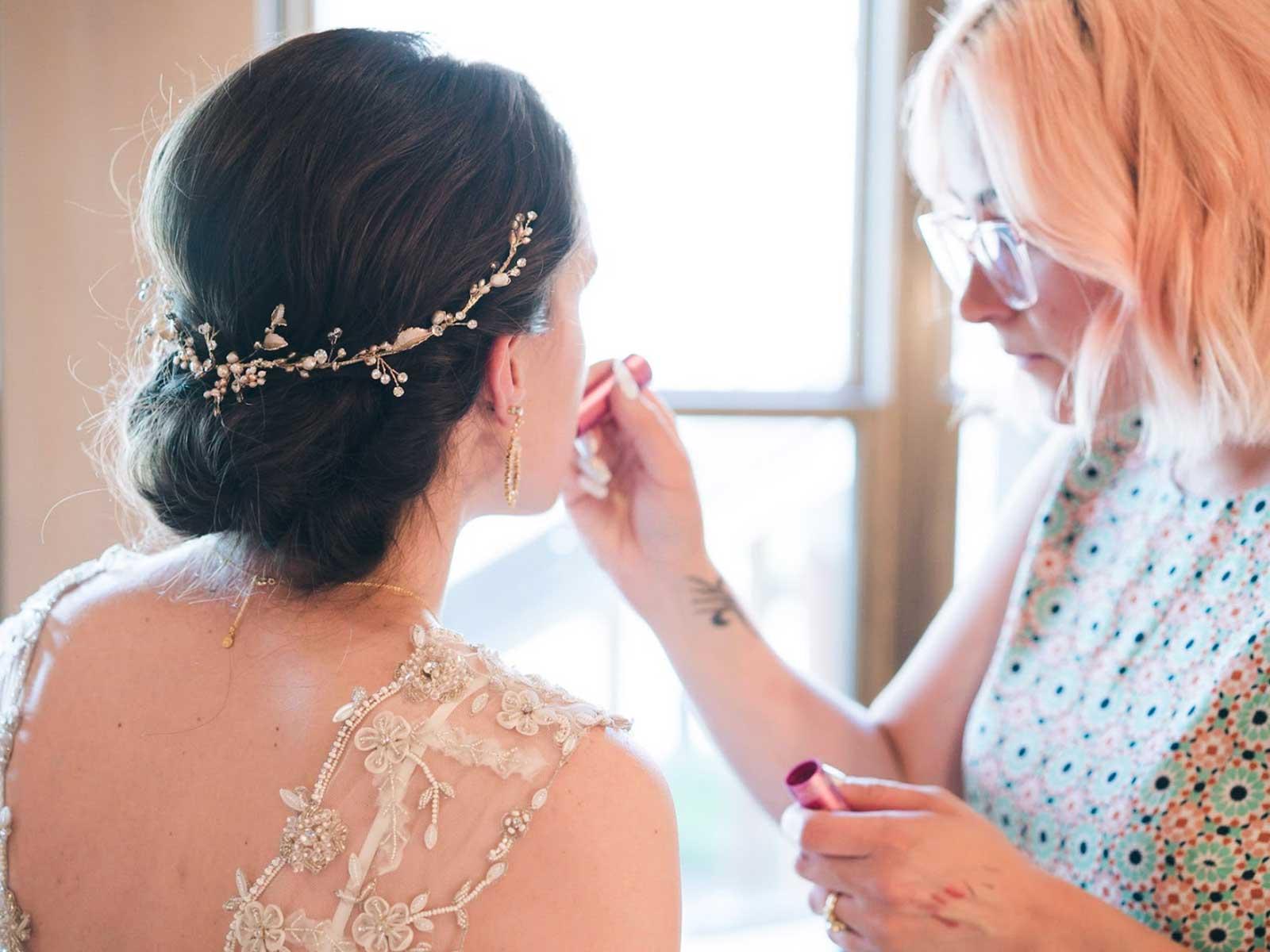 carmen bride getting ready