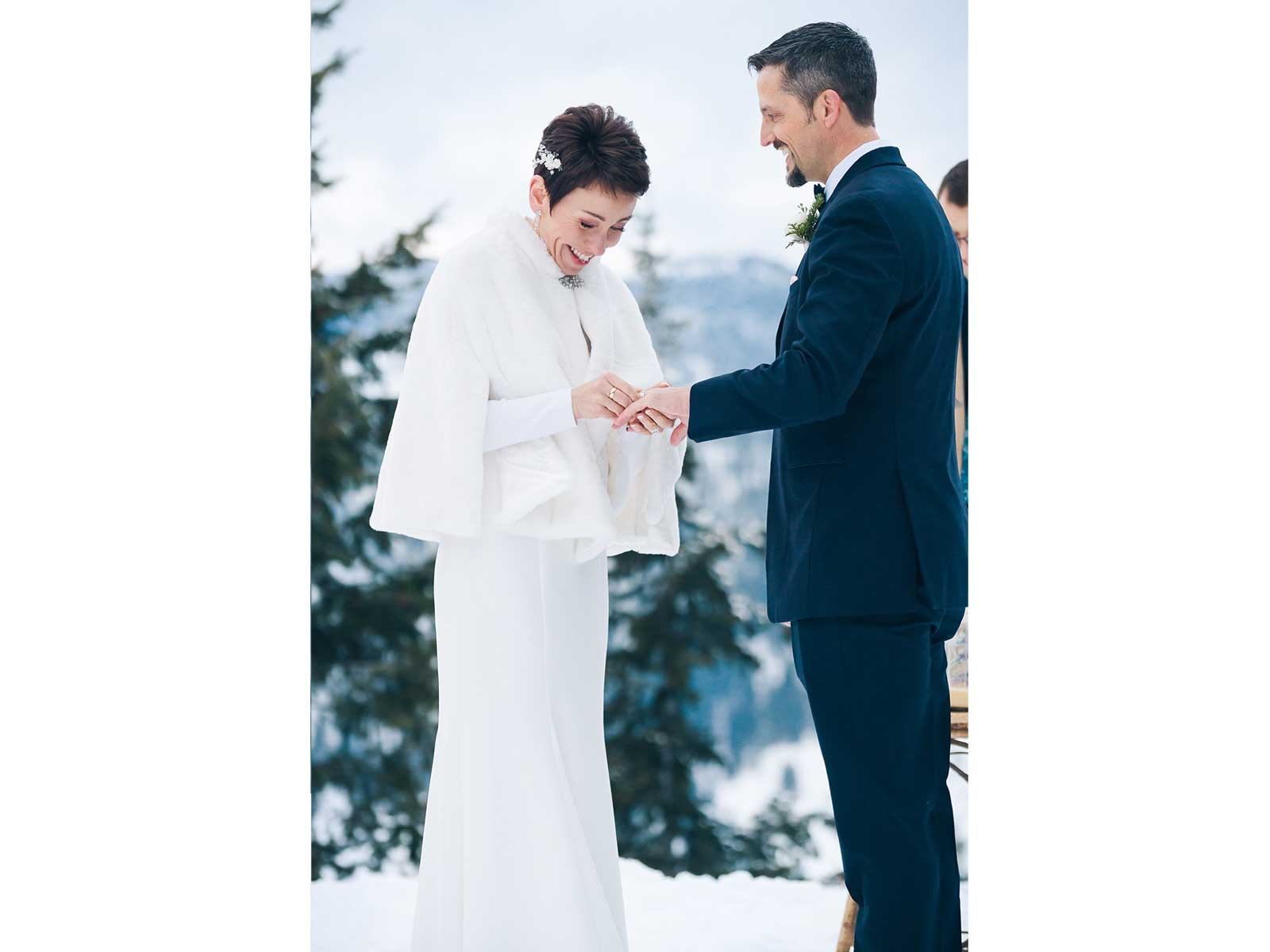 mari jason wedding snow