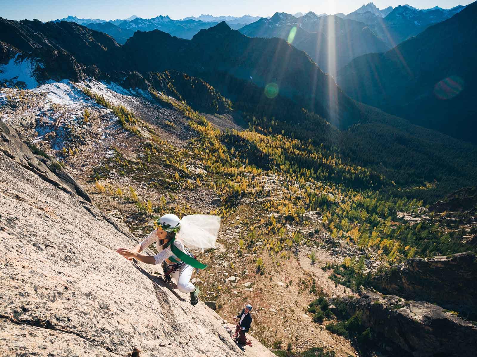 kelsey andy rock climbing