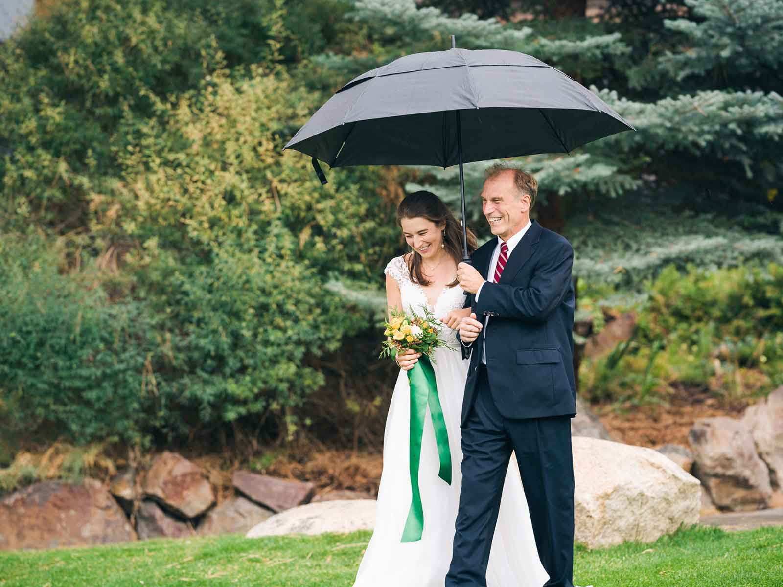 kelsey bride and dad