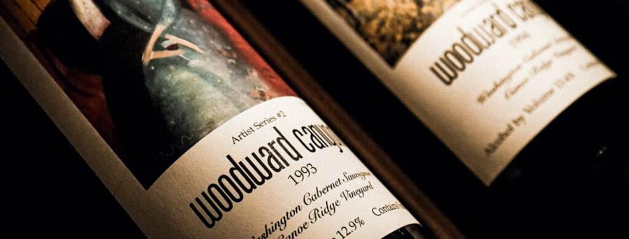Woodward Canyon wine bottles