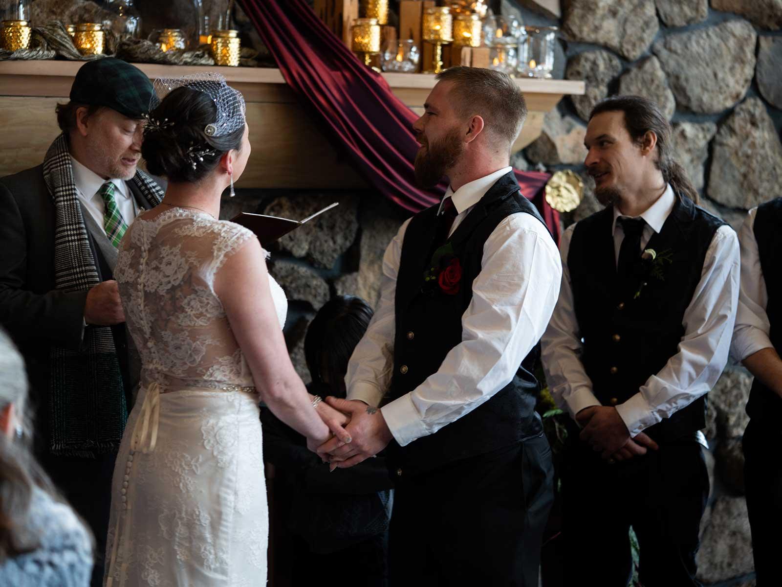 Allison Chris wedding ceremony