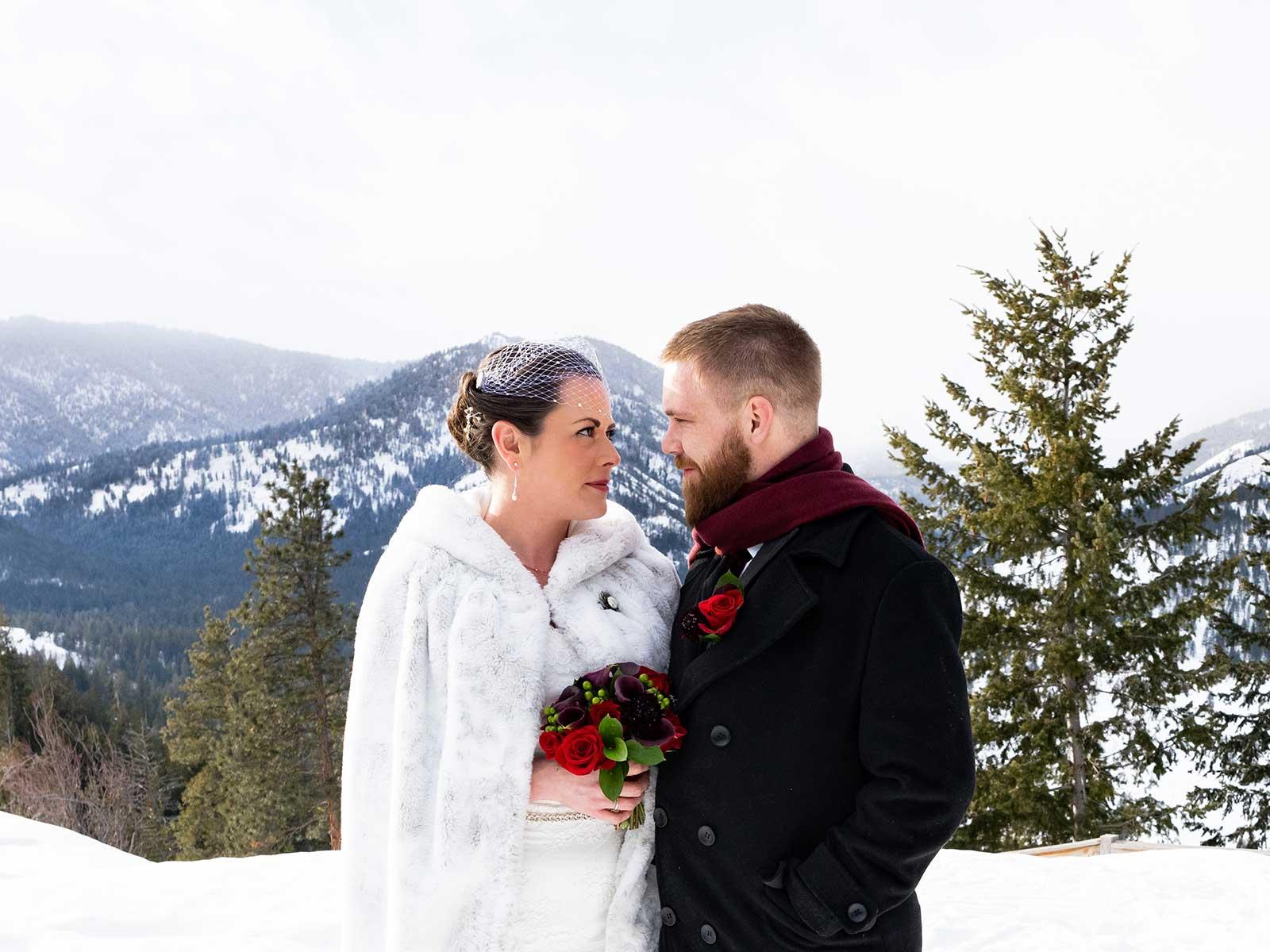 Allison Chris wedding bluff view