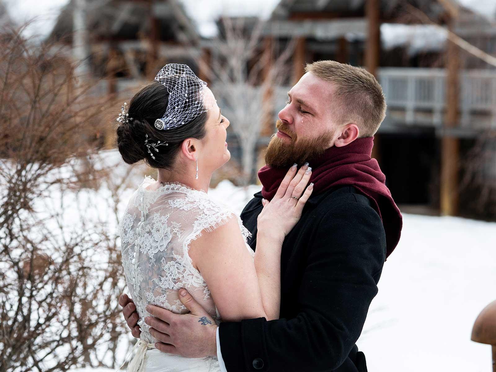 Allison Chris wedding outside 2