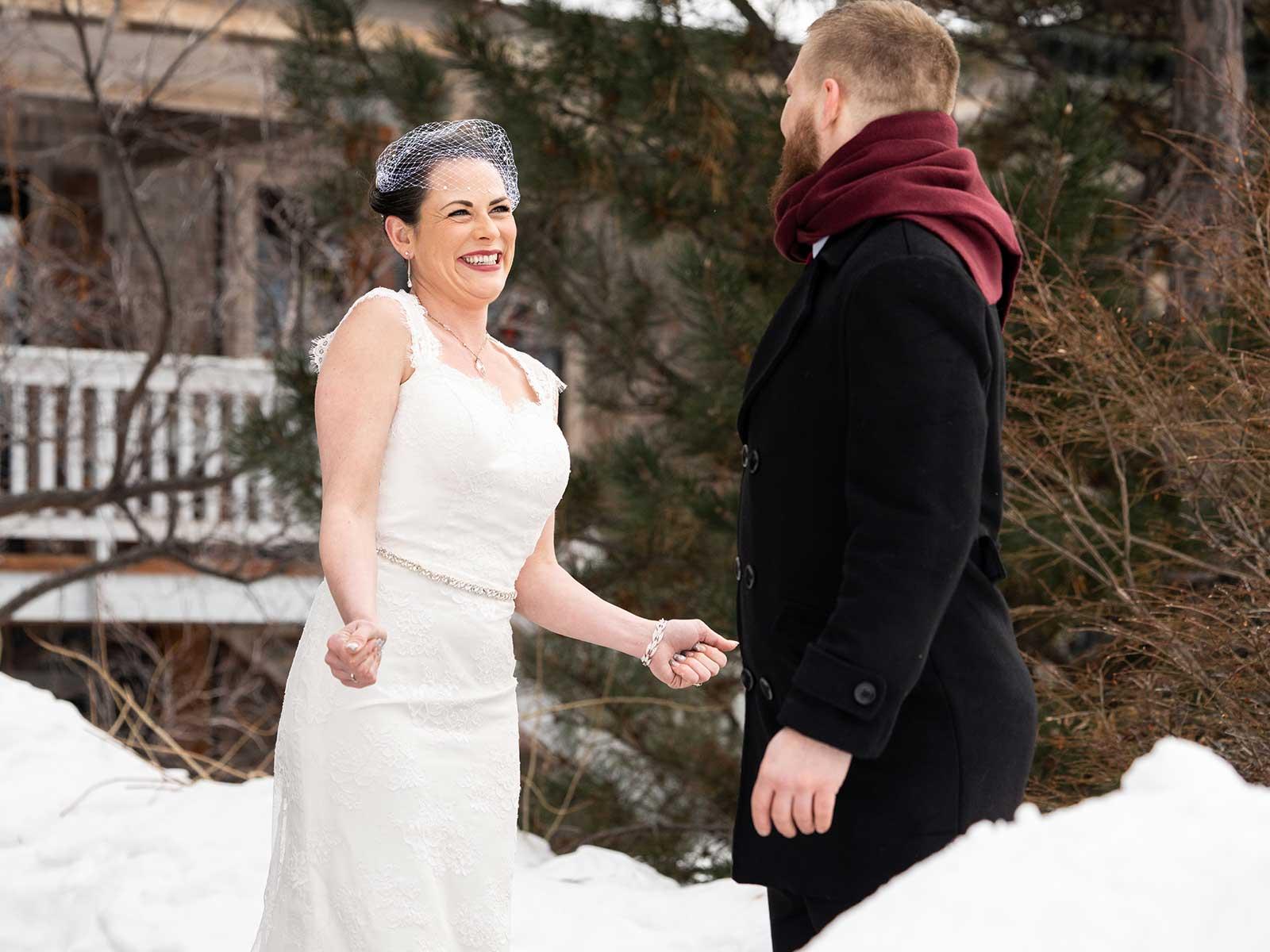Allison Chris wedding outside